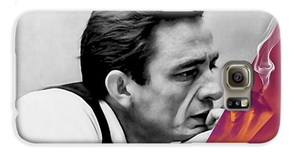 Johnny Cash Collection Galaxy S6 Case by Marvin Blaine