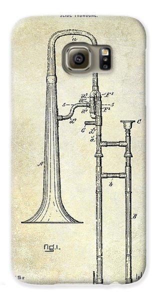 Trombone Galaxy S6 Case - 1902 Trombone Patent by Jon Neidert