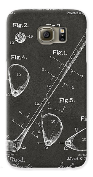 1910 Golf Club Patent Artwork - Gray Galaxy S6 Case by Nikki Marie Smith