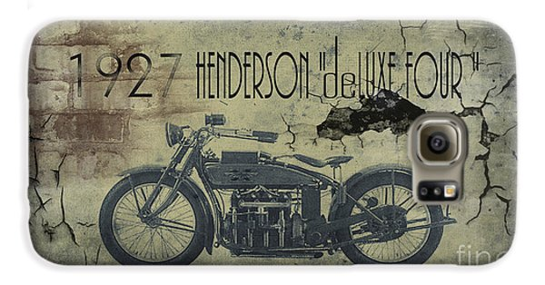 1927 Henderson Vintage Motorcycle Galaxy S6 Case by Cinema Photography