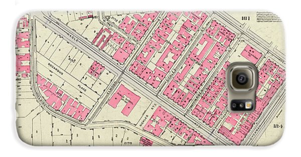 1930 Inwood Map  Galaxy S6 Case by Cole Thompson