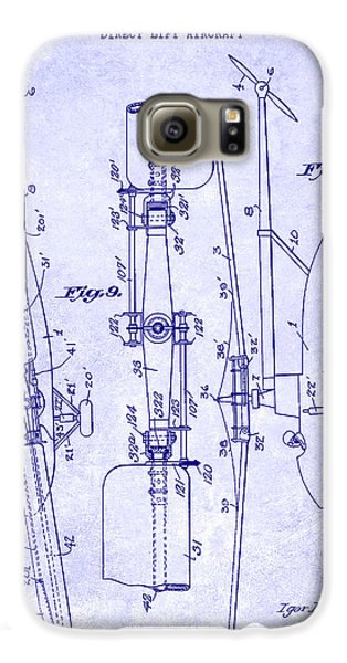 1935 Helicopter Patent Blueprint Galaxy S6 Case by Jon Neidert