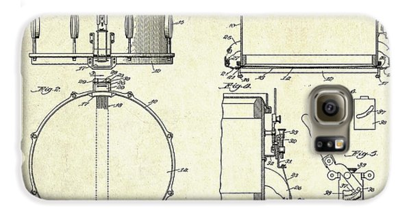 1939 Slingerland Snare Drum Patent Sheets Galaxy S6 Case