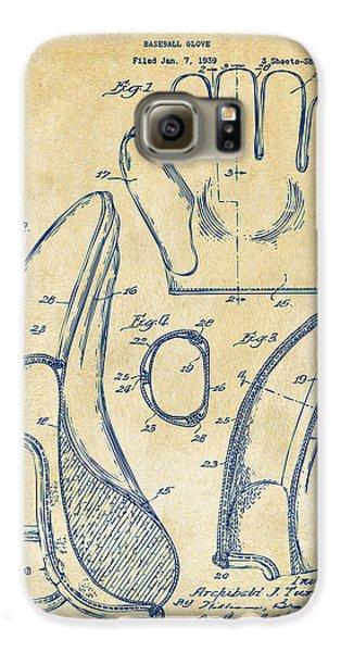 Baseball Gloves Galaxy S6 Case - 1941 Baseball Glove Patent - Vintage by Nikki Marie Smith