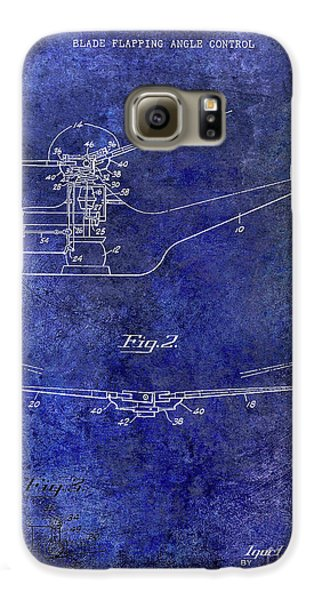 1947 Helicopter Patent Blue Galaxy S6 Case by Jon Neidert
