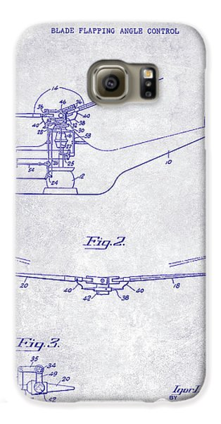 1947 Helicopter Patent Blueprint Galaxy S6 Case by Jon Neidert