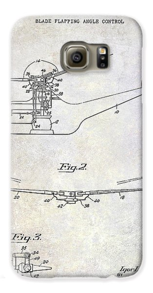 1947 Helicopter Patent Galaxy S6 Case by Jon Neidert