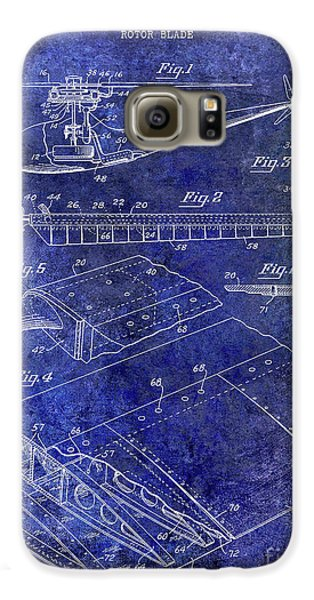 1949 Helicopter Patent Blue Galaxy S6 Case by Jon Neidert