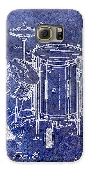 Drums Galaxy S6 Case - 1951 Drum Kit Patent Blue by Jon Neidert