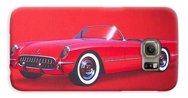1953 Corvette Classic Vintage Sports Car Automotive Art Galaxy S6 Case by John Samsen