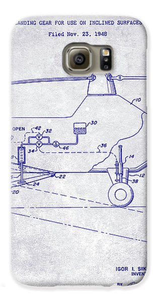 1953 Helicopter Patent Blueprint Galaxy S6 Case by Jon Neidert