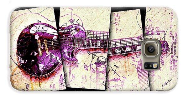 Van Halen Galaxy S6 Case - 1955 Les Paul Custom Black Beauty V3 by Gary Bodnar