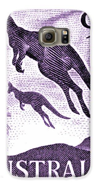 Kangaroo Galaxy S6 Case - 1959 Australia Kangaroo Postage Stamp by Retro Graphics