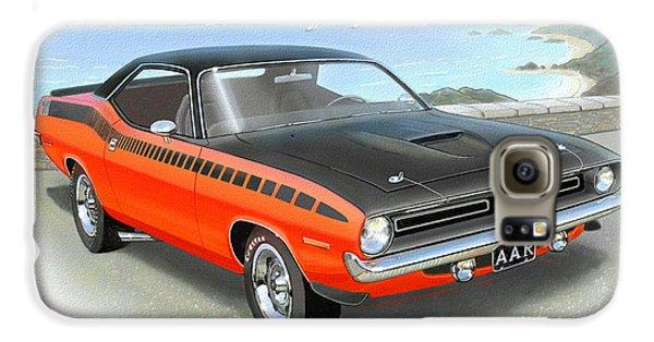 1970 Barracuda Aar  Cuda Classic Muscle Car Galaxy S6 Case by John Samsen
