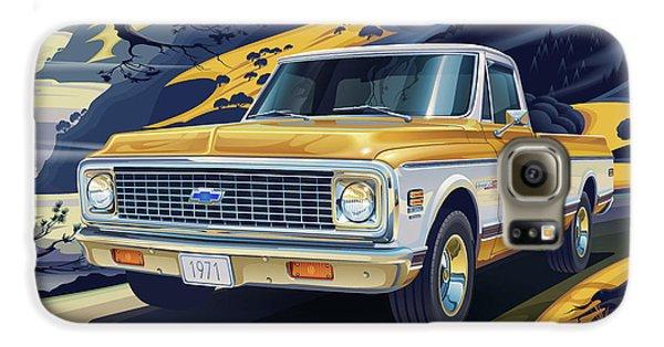 Truck Galaxy S6 Case - 1971 Chevrolet C10 Cheyenne Fleetside 2wd Pickup by Garth Glazier