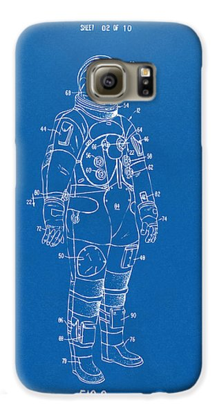 1973 Astronaut Space Suit Patent Artwork - Blueprint Galaxy S6 Case