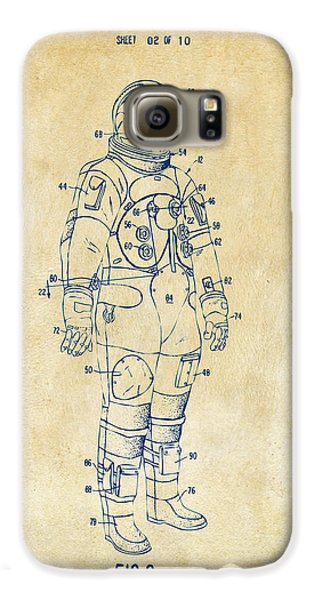 1973 Astronaut Space Suit Patent Artwork - Vintage Galaxy S6 Case