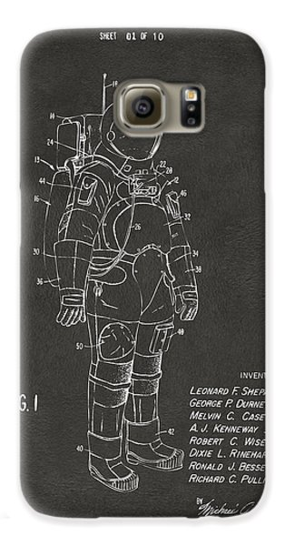 1973 Space Suit Patent Inventors Artwork - Gray Galaxy S6 Case