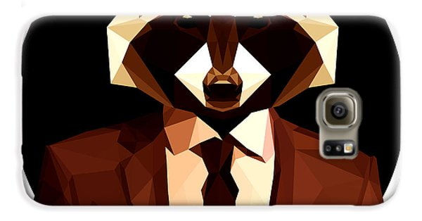 Abstract Geometric Raccoon Galaxy S6 Case by Gallini Design