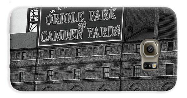 Oriole Galaxy S6 Case - Baltimore Orioles Park At Camden Yards Bw by Frank Romeo