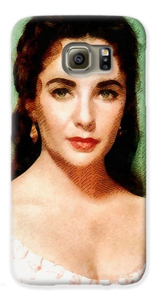Elizabeth Taylor Hollywood Actress Galaxy S6 Case by John Springfield