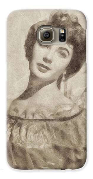 Elizabeth Taylor, Vintage Hollywood Legend By John Springfield Galaxy S6 Case by John Springfield