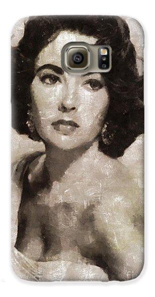 Elizabeth Taylor, Vintage Hollywood Legend By Mary Bassett Galaxy S6 Case