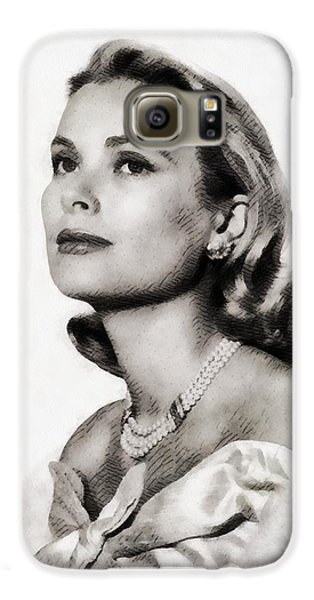 Grace Kelly, Vintage Hollywood Actress Galaxy S6 Case by John Springfield