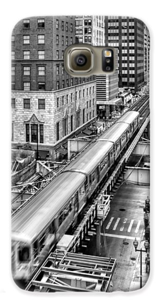 Historic Chicago El Train Black And White Galaxy S6 Case