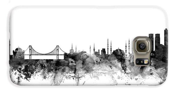 Turkey Galaxy S6 Case - Istanbul Turkey Skyline by Michael Tompsett