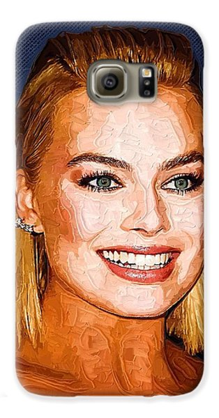 Margot Robbie Art Galaxy S6 Case by Best Actors