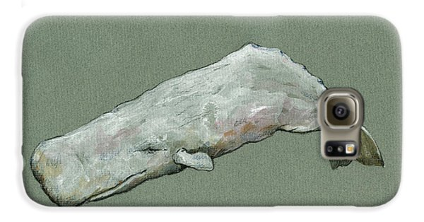Moby Dick The White Sperm Whale  Galaxy S6 Case by Juan  Bosco