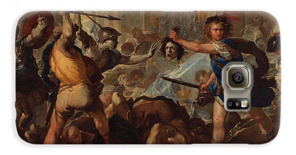 Gorgon Galaxy S6 Case - Perseus Turning Phineas And His Followers To Stone by Luca Giordano
