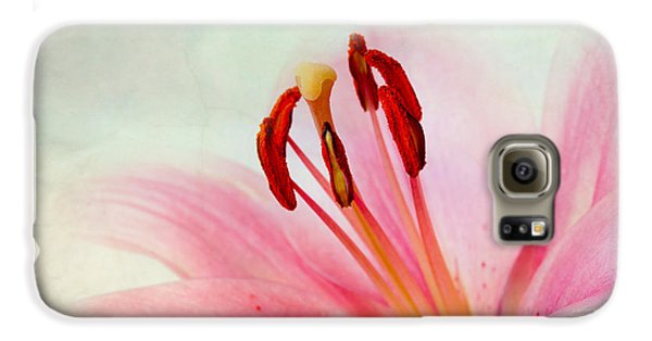 Lily Galaxy S6 Case - Pink Lily by Nailia Schwarz