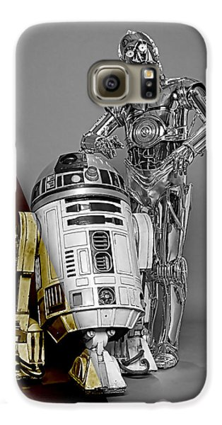 Star Wars C3po And R2d2 Collection Galaxy S6 Case by Marvin Blaine