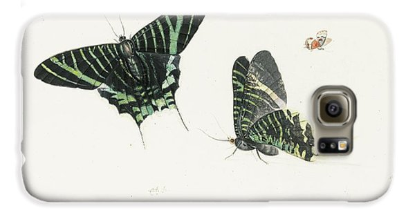 Studies Of Two Butterflies Galaxy S6 Case by Anton Henstenburgh