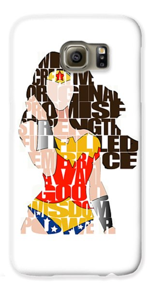 Wonder Woman Inspirational Power And Strength Through Words Galaxy S6 Case