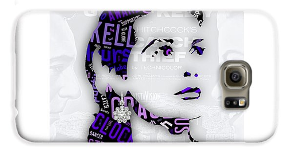Grace Kelly Movies In Words Galaxy S6 Case by Marvin Blaine