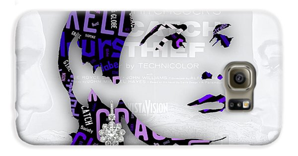 Grace Kelly Movies In Words Galaxy S6 Case