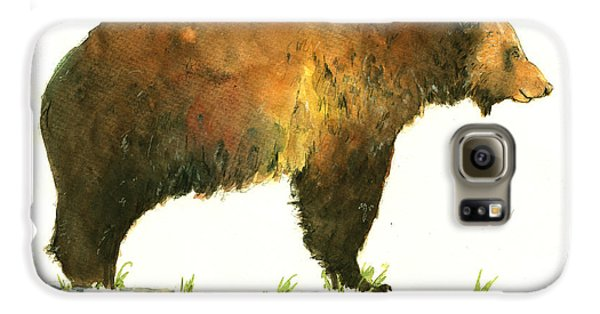 Grizzly Bear Galaxy S6 Case - Grizzly Brown Bear by Juan  Bosco