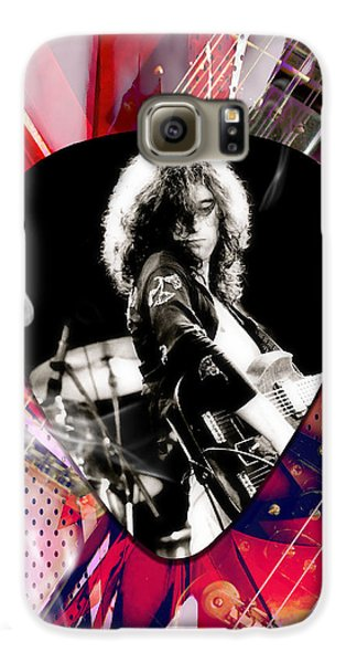 Jimmy Page Led Zeppelin Art Galaxy S6 Case
