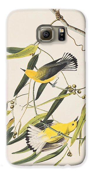 Prothonotary Warbler Galaxy S6 Case by John James Audubon