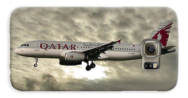 Jet Galaxy S6 Case - Qatar Airways Airbus A320-232 by Smart Aviation