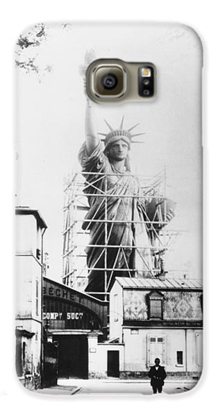 Statue Of Liberty, Paris Galaxy S6 Case