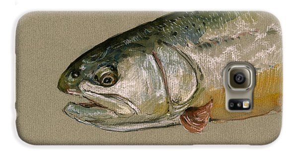 Trout Galaxy S6 Case - Trout Watercolor Painting by Juan  Bosco