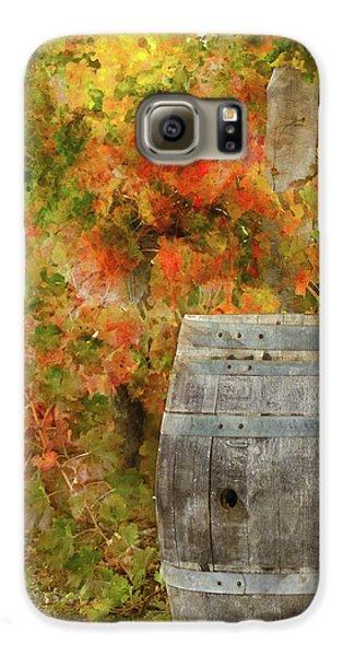 Wine Barrel In Autumn Galaxy S6 Case