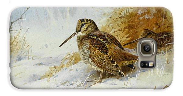 Winter Woodcock Galaxy S6 Case by Archibald Thorburn