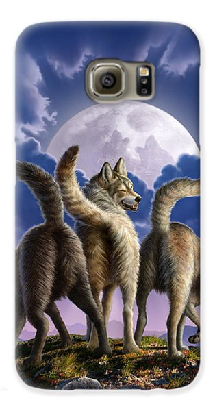 3 Wolves Mooning Galaxy S6 Case