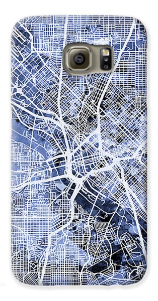Dallas Galaxy S6 Case - Dallas Texas City Map by Michael Tompsett