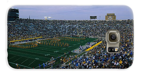 High Angle View Of A Football Stadium Galaxy S6 Case by Panoramic Images